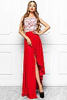 Женское длинное платье Арни красный Jadone Fashion 42-46 размеры