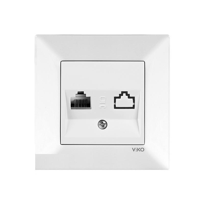 Розетка компьютерная одинарная белая VIKO MERIDIAN
