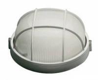 Светильник Lemanso круг. металлический 60W с решеткой IP44 / BL-1302 белый