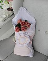 """Конверт на выписку """"Розовый цветок"""", фото 1"""