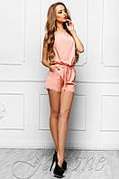 Летний женский персиковый комбинезон Амалия Jadone Fashion 42-48 размеры