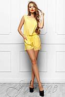 Летний женский желтый комбинезон Амалия Jadone Fashion 42-48 размеры