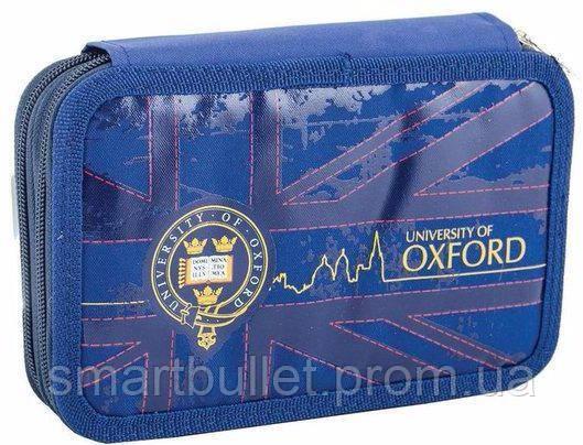 Пенал школьный без наполнения с 2-мя отделениями 1 Вересня Oxford blue 531387