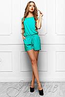 Летний женский бирюзовый комбинезон Амалия Jadone Fashion 42-48 размеры