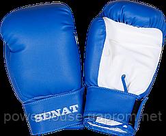 Перчатки боксерские 6 унций, сине-белые