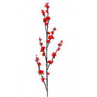 Ветка сакуры красная 130 см 5 шт/уп
