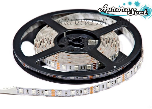 Светодиодная RGB LED лента Econom SMD 5050 IP20 led/m 60pcs Svetodiodnaja RGB LED lenta Econom SMD 5050 IP20 led/m 60pcs