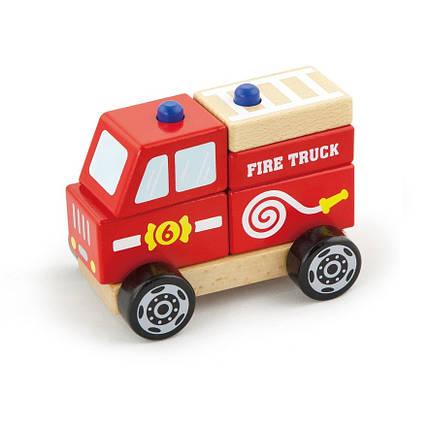 """Игрушка Viga Toys """"Пожарная машина"""" (50203), фото 2"""