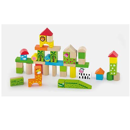 """Набор строительных блоков Viga Toys """"Зоопарк"""" 50 шт. (50286), фото 2"""
