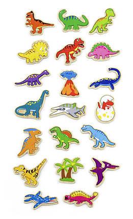 """Набор магнитных фигурок Viga Toys """"Динозавры"""" 20 шт. (50289VG), фото 2"""