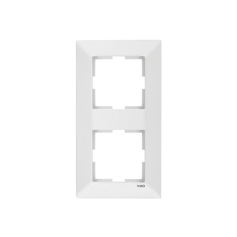 Рамка подвійна вертикальний біла VIKO MERIDIAN