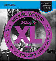 Струны D'Addario EXL120BT Electric Guitar XL Balanced Tension 09/40
