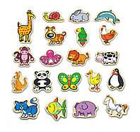 """Набор магнитных фигурок Viga Toys """"В мире животных"""" 20 шт. (58923VG)"""