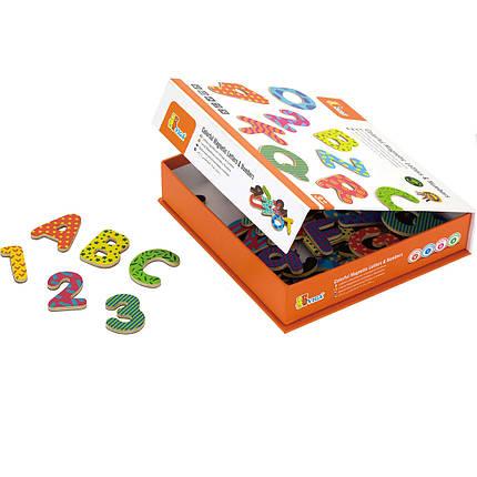 """Набор магнитных букв и цифр Viga Toys """"Буквы и цифры"""" (59429), фото 2"""