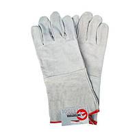 Перчатка замшевая серая (ящик 60 пар) INTERTOOL SP-0009W
