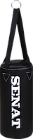 Мешок боксерский 40х18, кожзам, черный, 4 подвеса