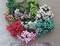 """Цветы искусственные """"Букетик тычинок""""  по 12 шт. пластик+"""