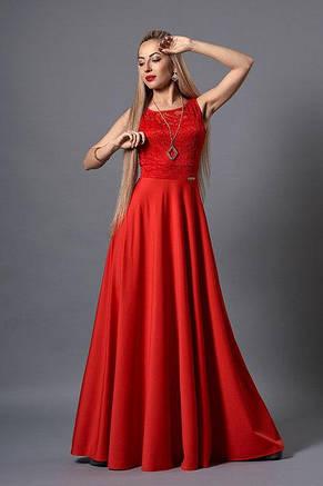 Красивое и стильное выпускное вечернее платье в пол с кулоном., фото 2