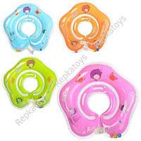 Круг на шею для младенцев, 4 цвета, в пакете (ОПТОМ) R1-2