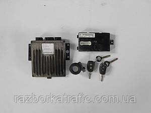 Блок управления двигателем, иммобилайзер, чип ключа, блок комфорта (Комплект) на Renault Kangoo