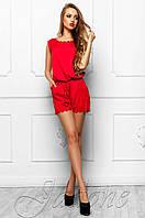 Летний женский красный комбинезон Амалия Jadone Fashion 42-48 размеры