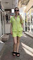 Женский летний костюм с шортами Colors of California салатовый