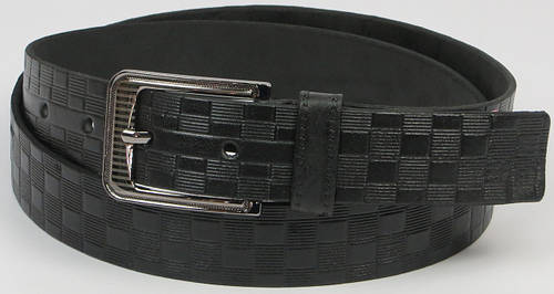 Кожаный мужской брючный ремень Skipper арт. 5512 чёрный, ШхД: 3,5х125 см.
