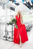 Платье женское красное на запах TM B&H АА/-079