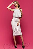 Белое женское платье Магнолия Jadone Fashion 42-46 размеры
