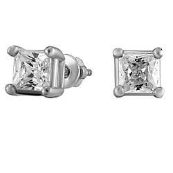 Сережки зі срібла з куб. цирконіями 177448