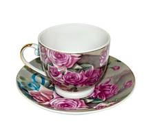 """Фарфоровый чайный набор на 6 персон """"Цветочный сад"""" 11347"""