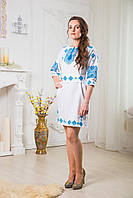 Платье вышиванка с манжетами