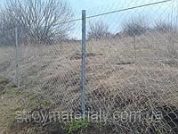Чем оградить дачу? Забор из сетки рабица для дачи.