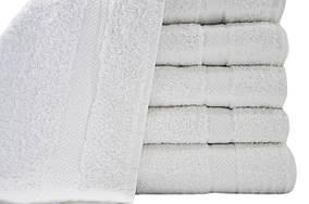 Белые полотенца для отелей 70x140 высокой плотности 475гр/M2