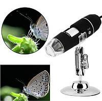Цифровой микроскоп USB Magnifier SuperZoom 50-500X с LED подсветкой, фото 1