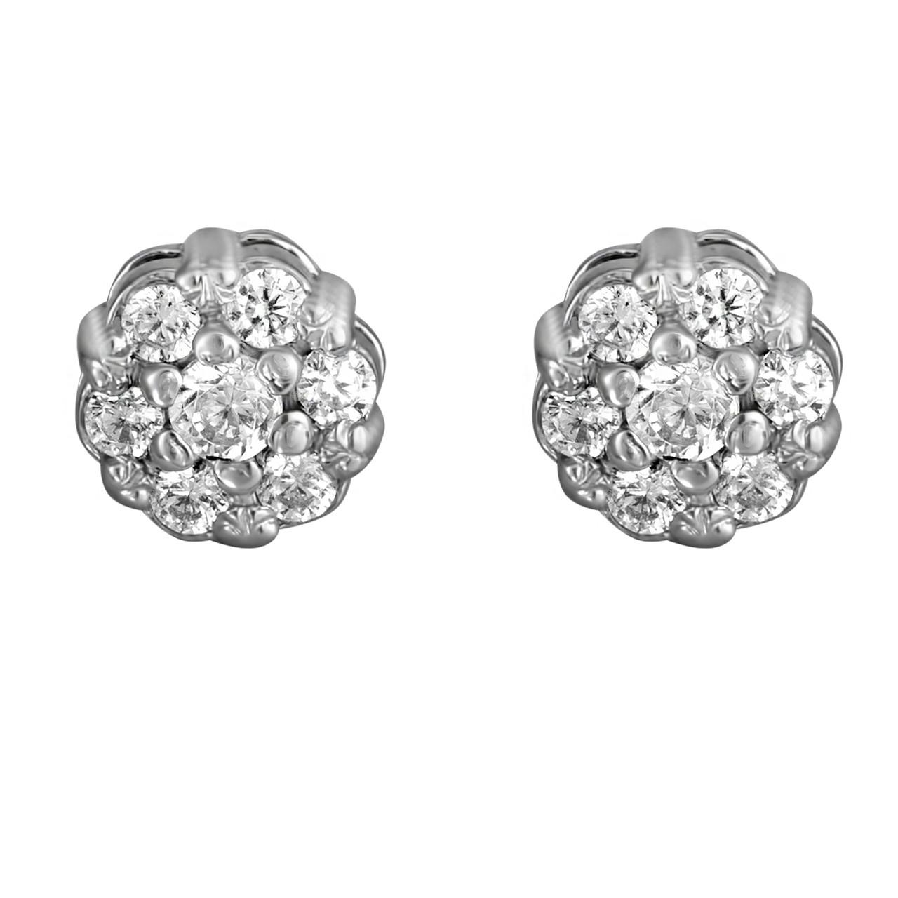 Серьги из серебра с куб. циркониями 178223