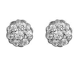 Сережки зі срібла з куб. цирконіями 178223