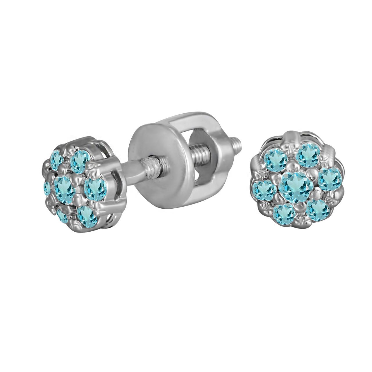 Серьги из серебра с куб. циркониями 178247