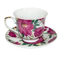 """Фарфоровый чайный набор на 6 персон """"Цветочный сад"""" 11357"""