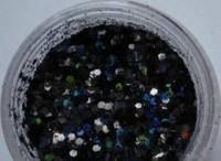"""Украшение для дизайна ногтей """"Брокард"""", цвет черный"""