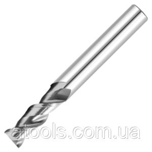 Фреза для ЧПУ спиральная плоская для мягких металов - D3 d3 L40 l10 - 2 зуб
