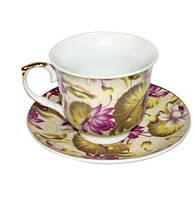 """Фарфоровый чайный набор на 6 персон """"Цветочный сад"""" 11359"""
