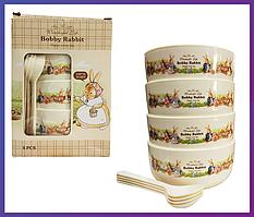 Набір дитячих тарілок Bobby Rabbit з 4 шт.