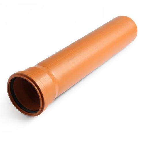 Труба зовнішня ПВХ з розтрубом 160 х 3,2 х 4000