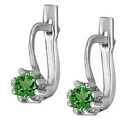 Сережки зі срібла з куб. цирконіями C044g
