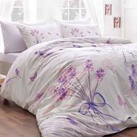 TAC Евро постельное бельё ранфорс Lavander lilac