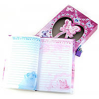 Блокнот с замком для девочек темно розовый 2 ключа 20,5х14,5х3,5 см