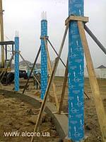 Картонна опалубка діаметром 500мм*4000мм для залізобетонних колон