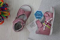 Ортопедические кожаные босоножки на девочку, детская кожаная летняя обувь Tom.m р.17,18,20,21,22,23
