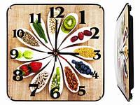 Прикольные настенные часы на кухню Пища для гурмана